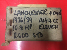 "Lanchester 11 Pistons. 0.040"" Oversize."