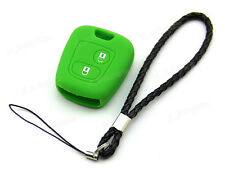 Green Silicone Case Cover For Citroen Remote Key Saxo Picasso Berlingo 2 Buttons