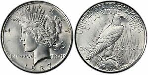 Peace Silver Dollar 1927 P PCGS AU-58