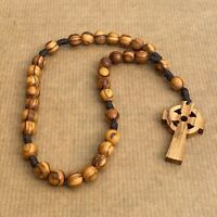 Anglican Prayer Beads, Olive Wood Rosary, Anglican Prayer Rosary, Wooden Rosary