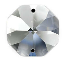 Set of 2000 - 14mm Clear Asfour Crystal 1080 Octagon Chandelier Parts - 2 Holes