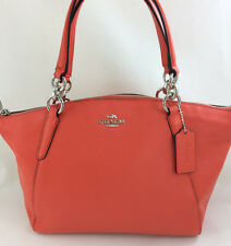 New Coach F36675 Leather Small Kelsey Satchel Shoulder Purse Handbag Orange