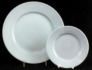 Rorstrand SWEDISH GRACE ICE Dinner Plate + Bread & Butter SHOWROOM INVENTORY