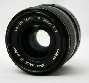 Canon New FD 35mm 1:2 Wide Angle Lens *As Is* #TL09d