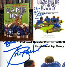 Game Day HAND SIGNED by Tiki Barber! New York Giants Football Legend! 1st/1st!