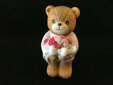 Lucy & Me Thank You Bear With Bouquet Of Red & Pink Roses Lucy Rigg Enesco 1983