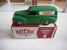"""Micro Models FL Holden Van """"Corlett Bros. Bakers"""" in Green in Box"""