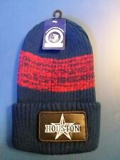 Sportsman Silhouette TEXAS 12 Inch Blue + red Knit Acrylic Beanie Stocking Cap.