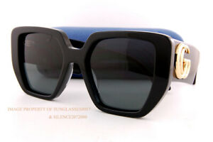 Brand New GUCCI Sunglasses GG 0956/S 003 Black/Grey For Women