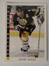 1993 Score Starting Lineup Adam Oates Boston Bruins Kenner Hockey Card