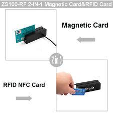 ZCS100 3 Tracks Magnetic Stripe Reader+RFID NFC Card Reader Writer 13.56MHz MX53