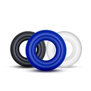 Stay Hard Cock Ring 3-Pack Erection Prolong Sex Penis Enlarger Orgasm Enhancer