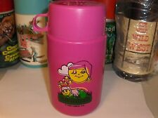 Glo Friends`1986`Hasbro Inc.Plastic Lunch Box-Thermos-:>Very Nice-:>Free To US