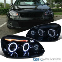 Glossy Black For VW 06-08 Golf Mk5 Jetta Tinted LED Halo Projector Headlights