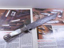 *RARE* 1986 PARKER/TAK FUKUTA JK-10D MOP (512 LAYER)DAMASCUS BOWIE KNIFE *MINT*