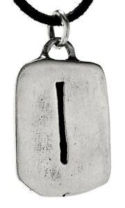 Rune Anhänger Isa 925 Silber Buchstabe I Diverse Ketten Nr 307