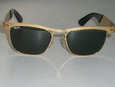 VINTAGE B&L RAY BAN W1309 MATTE GOLD G15 WAYFARER SUNGLASSES (LIMITED EDITION)