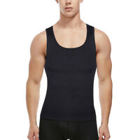 Seamless Men Slimming Body Shaper Vest Compression Tummy Control Tank Underwear
