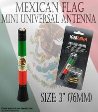 JDM 76mm Mini Mexican Flag bandera mexicana vehiculo de radio AM/FM antena B160
