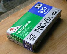 5x Fuji Provia 100 120  E6 medium format roll films OUTDATED  2001