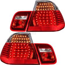 LED Rückleuchten Set 4-Teilig 3er BMW E46 Limousine Bj. 01-05 rot weiß chrom V3V