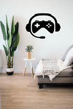 Gaming Pad Controller & Headset Wall Art Decal Sticker Transfer O107
