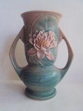 """Vintage Original Roseville Water Lily 7"""" Double Handled Vase. L@K!"""