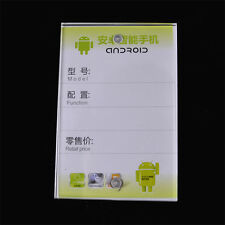 Cell Phone Retail Shop Mobile Price Tag Label Acrylic Holder Supermarket Stand