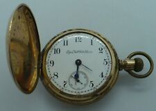 Jewel Grade 142 Size 18 Pocket Watch Antique Gold Plate Ornate Case Elgin 15