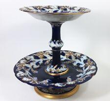 Große Etagere, Keramik/ Feyence, Kobalt um 1880 AL793