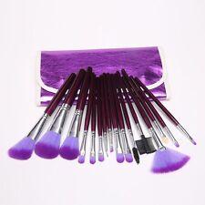 16 PCS Professional Makeup Cosmetic Brush Set Brushes Kit + Purple Bag Case US