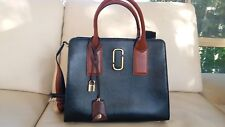Marc Jacobs Big Shot Black and Brown Leather Cross-body  Handbag Shoulder Bag