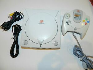 Sega Dreamcast White Console System COMPLETE + Free Game - Tested Warranty