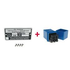 Typenschild + Schlagzahlen Set 4mm für Simson S50 (Masse: 230kg)