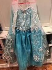 Disney Store Frozen Elsa Costume Dress Girls Size 7 8 - Euc