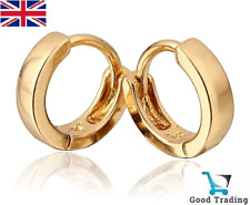 18k Gold Plated Jewellery Small Baby Girls Hoops Earrings Baby Girl HQ New UK
