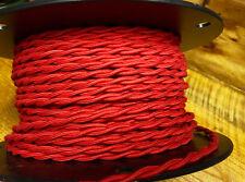 Rot Verdreht Baumwolle Tuch Bedeckt Draht, Vintage Stil Lampe Kordel, Antik