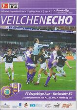 Programm   FC Erzgebirge Aue - Karlsruher SC  2. Bundesliga Saison 2004/05