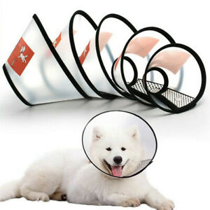 Dog Cat Wound Recovery Cover Pet Anti Bite Lick Circle Cone Elizabethan Collar