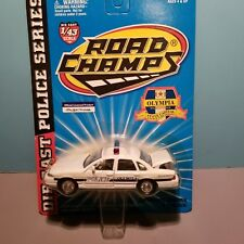 ROAD CHAMPS (43036) 1:43 SCALE DIECAST METAL OLYMPIA WASHINGTON POLICE CAR
