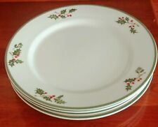 Set of Four 11� Traditions Holiday Celebrations ~ Christopher Radko Holly Plates