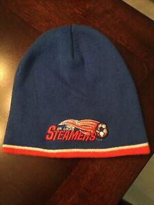 VTG 1980s St Louis Steamers Major League Soccer Knit Winter Hat Rare Never Worn