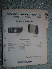 Pioneer Ba-20 10 11 service manual original repair book body sonic amp 13 pages