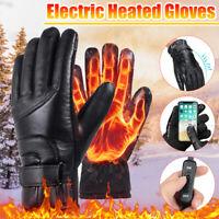 Electric Heated Gloves Motorcycle Heating Glove Winter Warm Waterproof USB