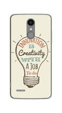 FUNDA de GEL TPU para LG K4 2017 / K8 2017 diseño CREATIVITY Dibujos