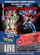 Black Voltron vs Mazinger Z Retro Poster T-Shirt S-2XL