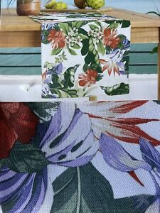 """Tommy Bahama 14"""" x 72"""" Table Runner Indoor Outdoor Tropical NEW"""