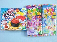 3 PCS SET Kracie Popin Cookin Japanese Candy Making Kit Sushi Nerunerunerune New