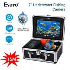 Eyoyo 7 Zoll 15M Unterwasserfischen-Kamera 12pcs Weiß 12pcs IR LED Fisch-Sucher
