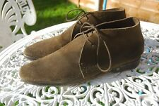 Men's Louis Vuitton Brown Suede Ankle Desert Chukka Boots UK 8 Made in Italy